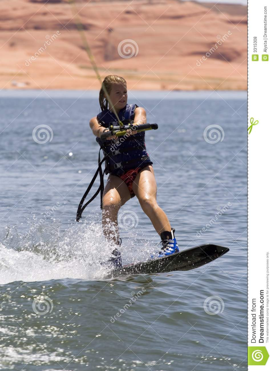 Wakeboard Girl Wallpaper Girl Wakeboarding Royalty Free Stock Photos Image 3315308