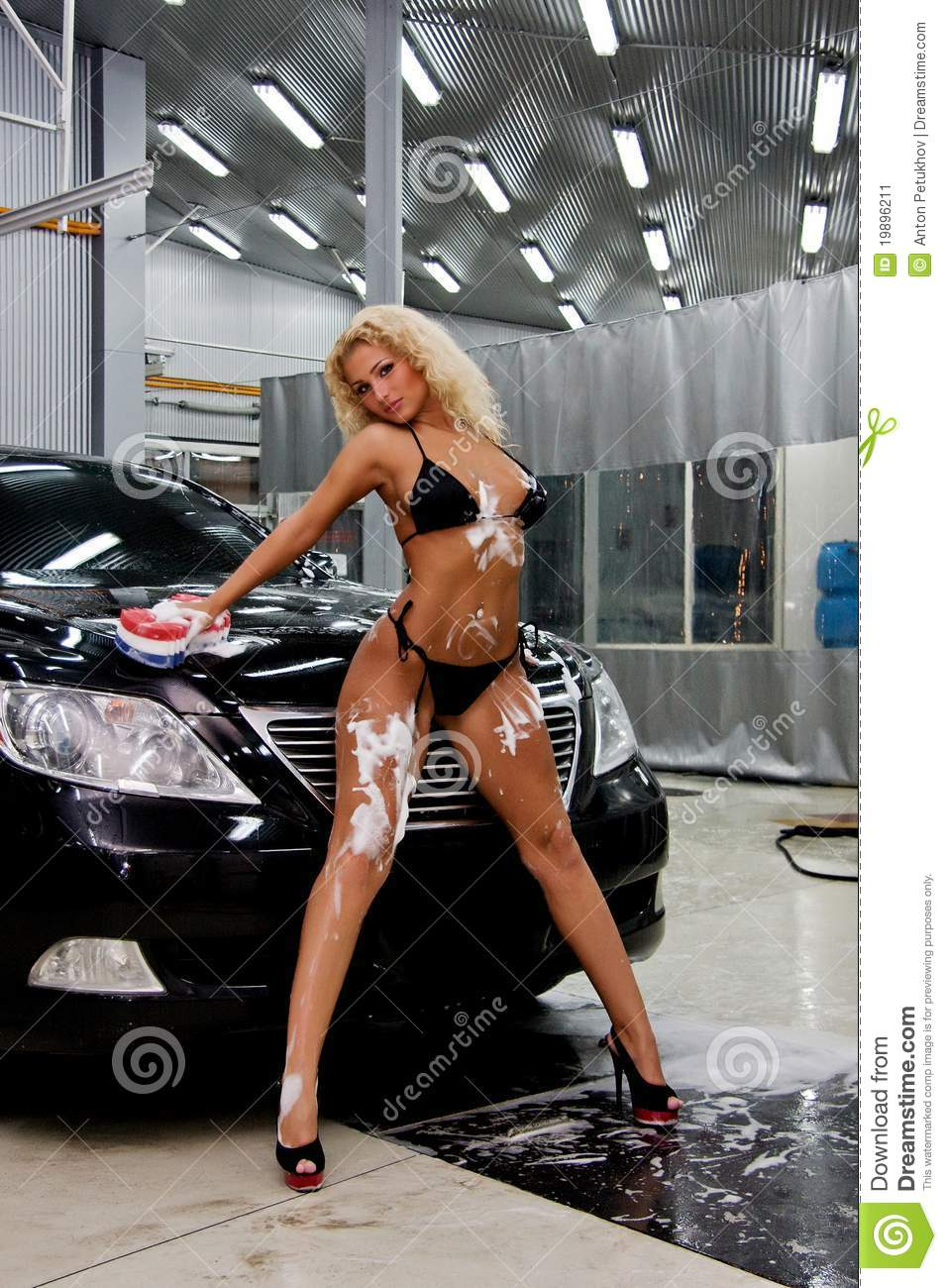 Free Wallpapers Cars And Beautiful Ladies Girl Washing A Car Stock Image Image Of Suit High