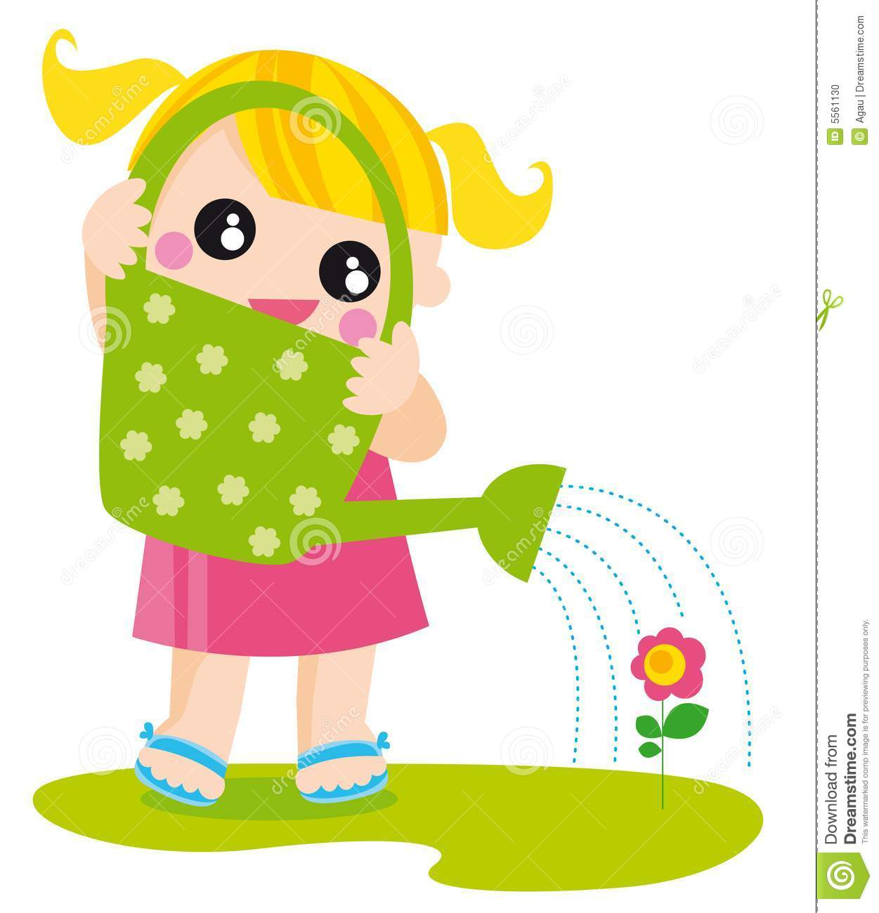 hight resolution of girl with watering can