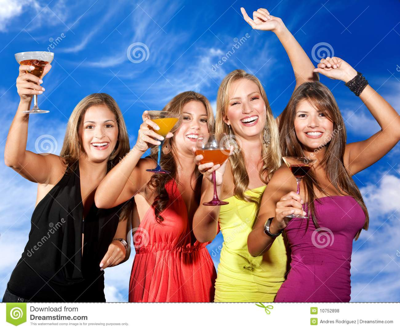 Beautiful Girl And Car Wallpaper Girls Partying Stock Photo Image Of Cocktail Informal
