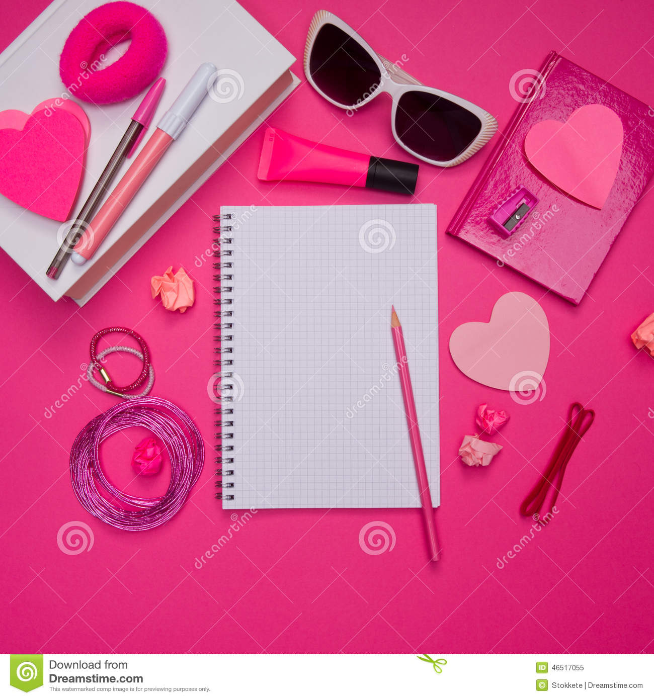 Awesome Cute Binder Wallpapers That Are Printable Girly Pink Desktop And Stationery Stock Image Image Of