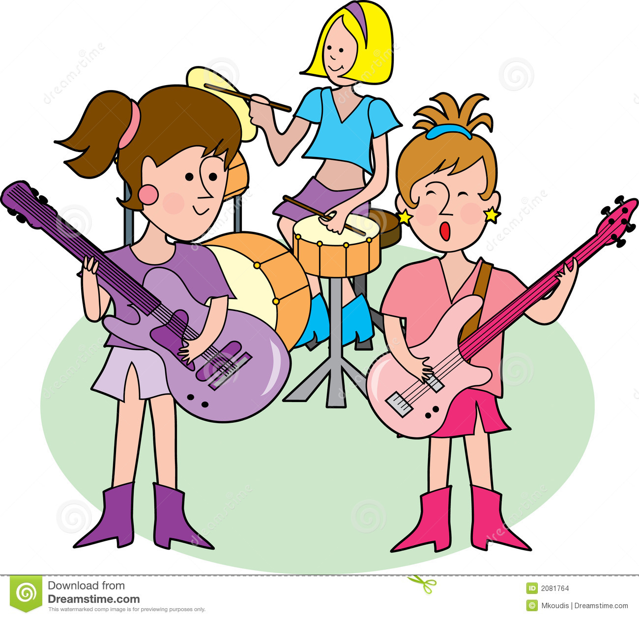 hight resolution of girly rock band