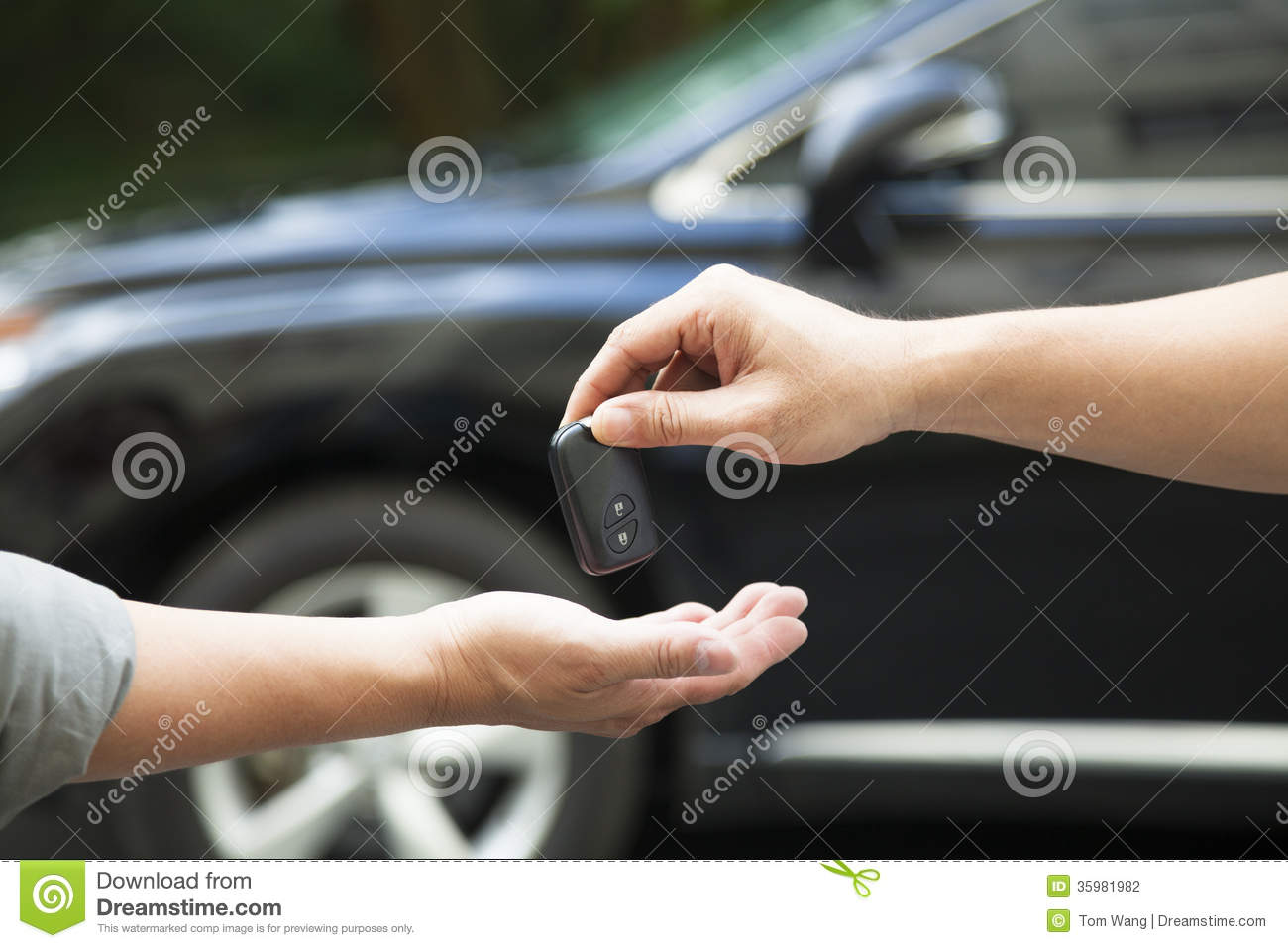 Giving And Receiving Car Key Stock Photography  Image