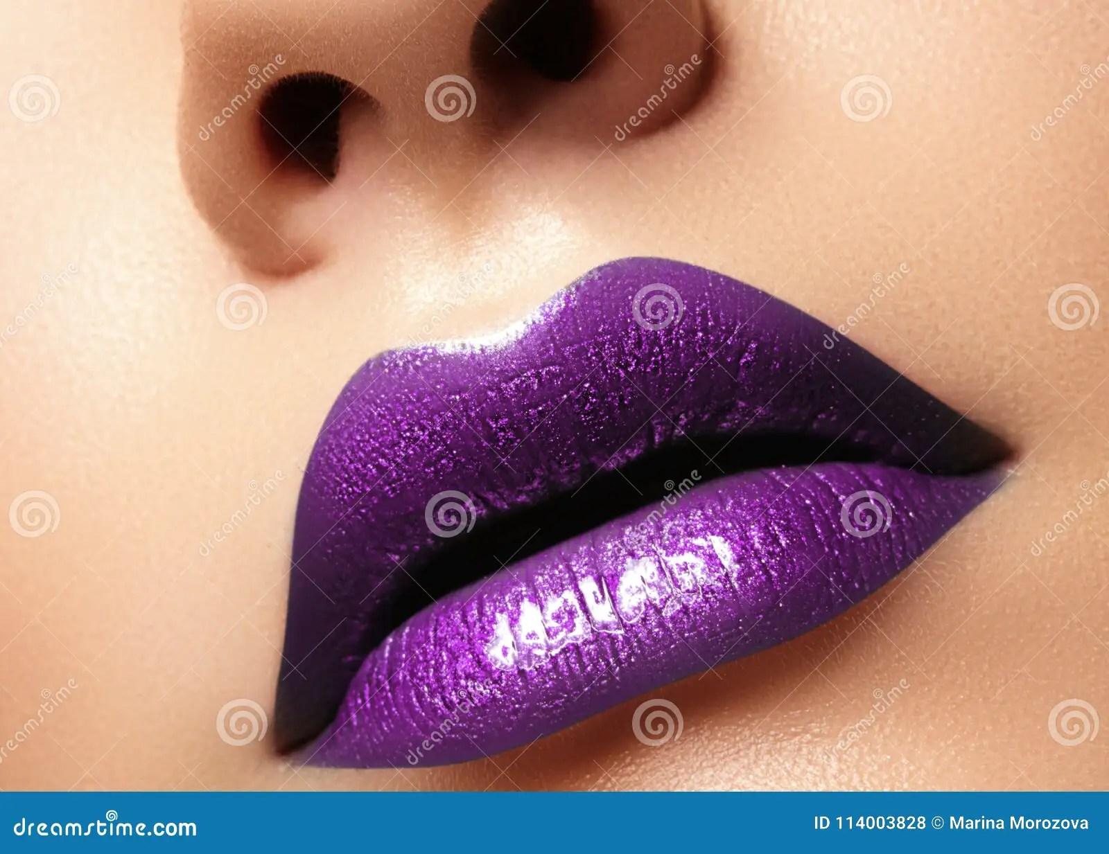 glamour purple gloss lips