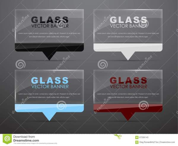 Glass Banners With Quote Bubble Stock Vector - 67336143