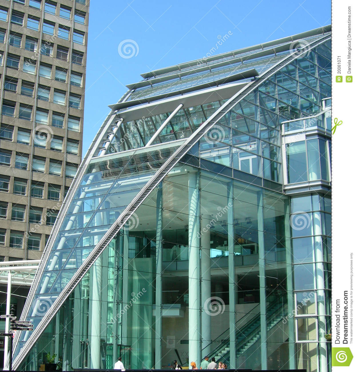 Glass Building In London UK Stock Image  Image of kingdom exterior 20061071