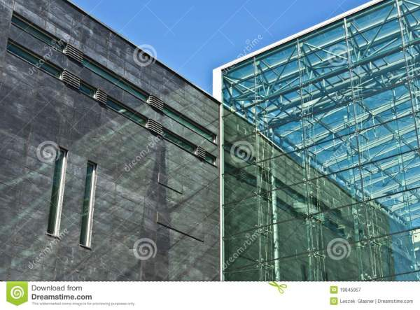 Glass And Concrete Facade Of Modern Building Royalty Free