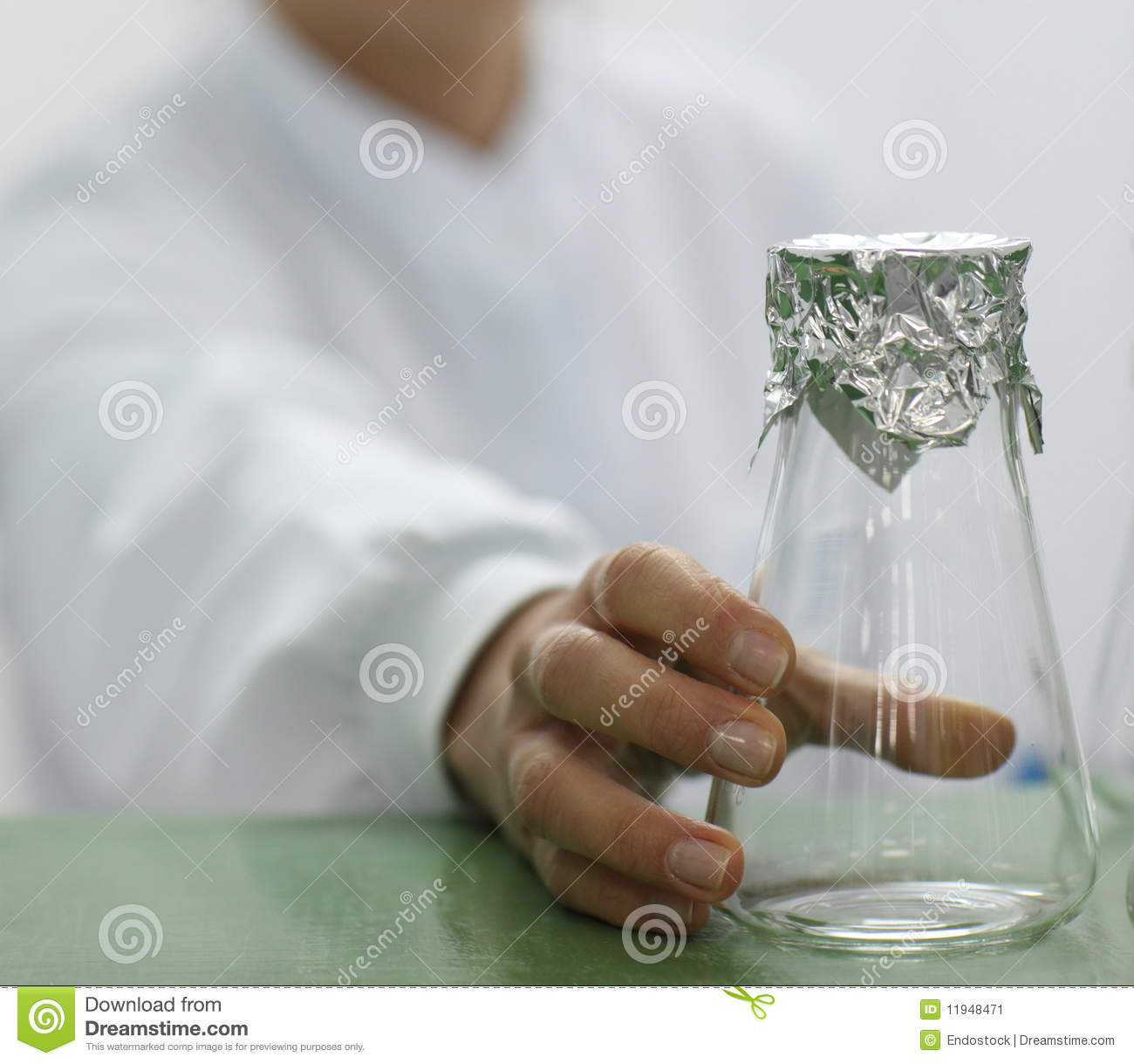 Glass Lab Beaker And Foil Stock Image Image 11948471