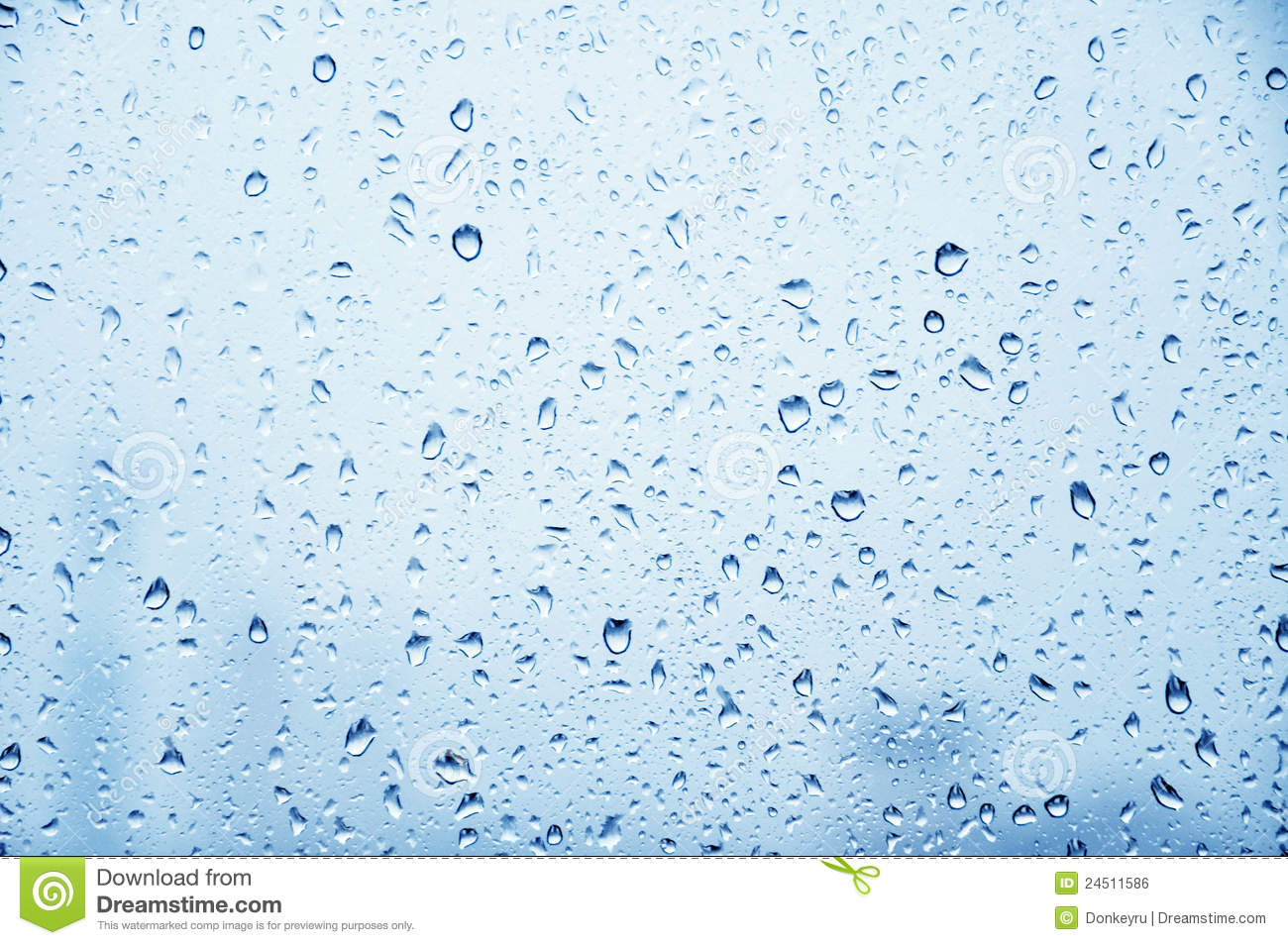 Glass Of Metallic Gray Blue With Raindrops Royalty Free