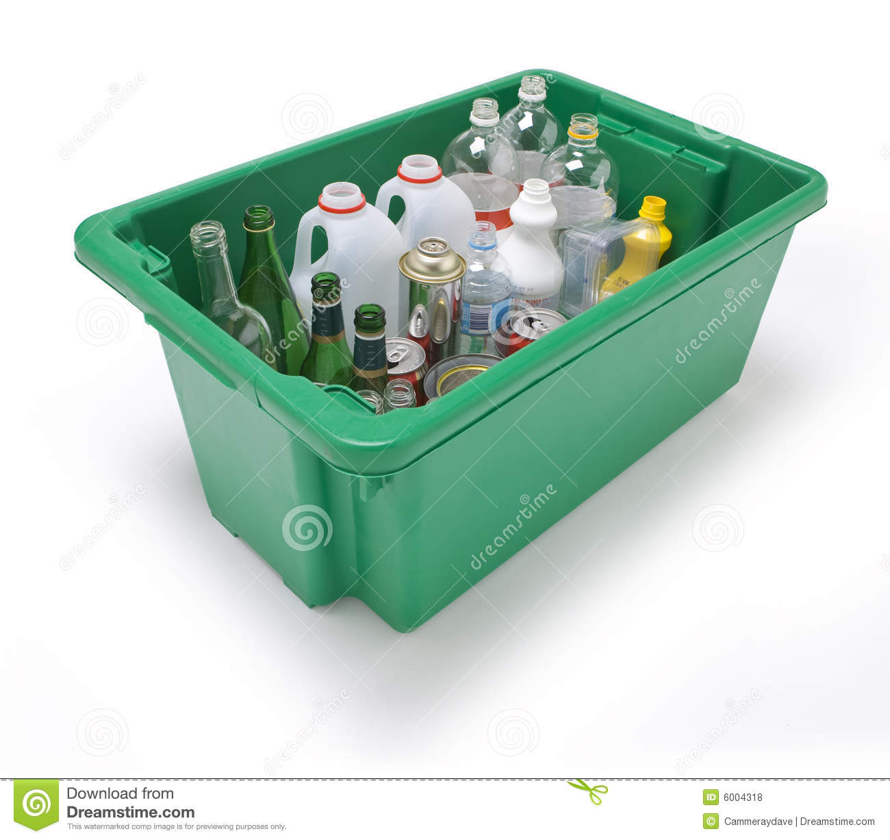 Glass Plastic Metal Recycling Royalty Free Stock Photos