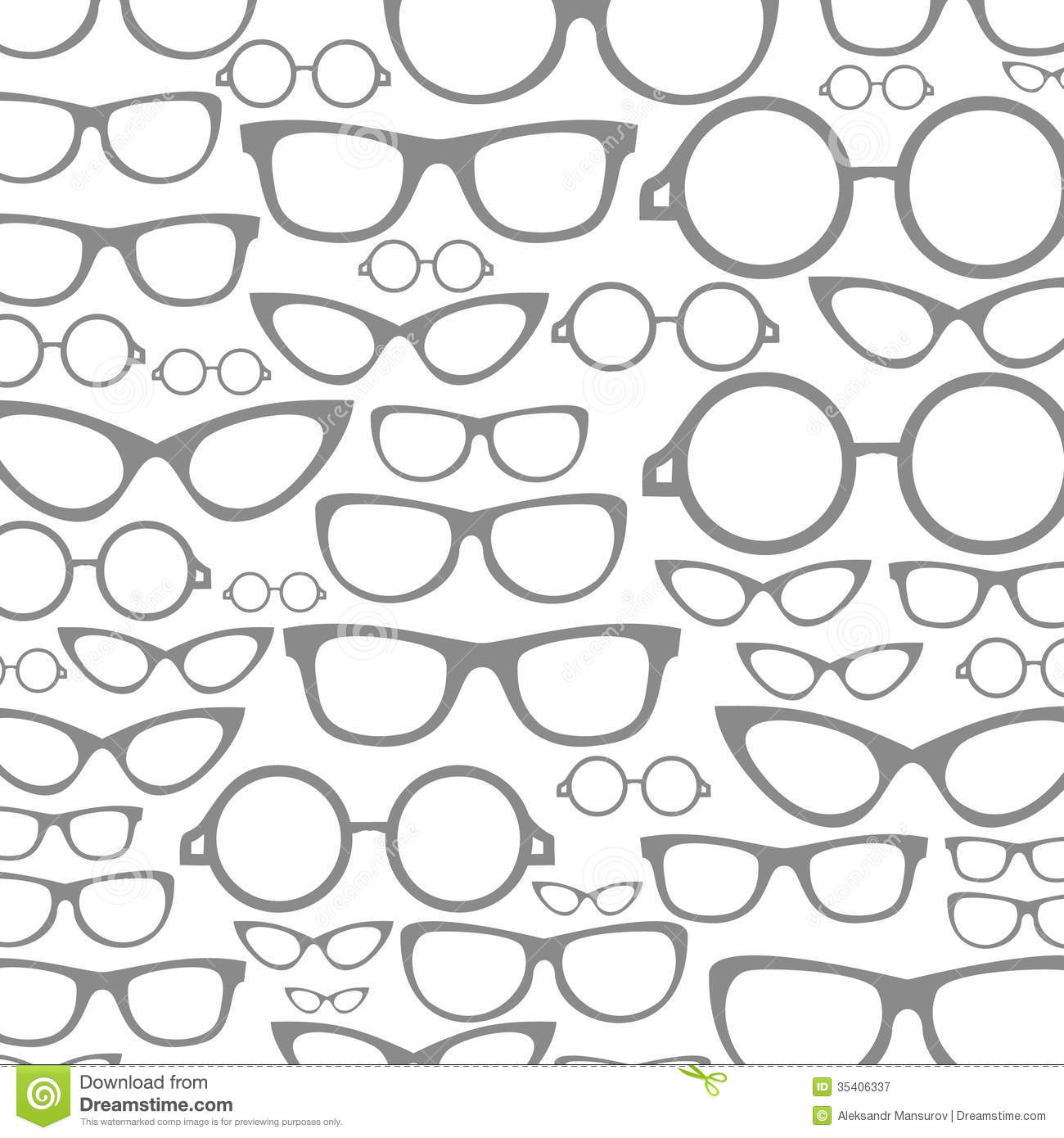 Glasses A Background Stock Vector Image Of Curve Circle