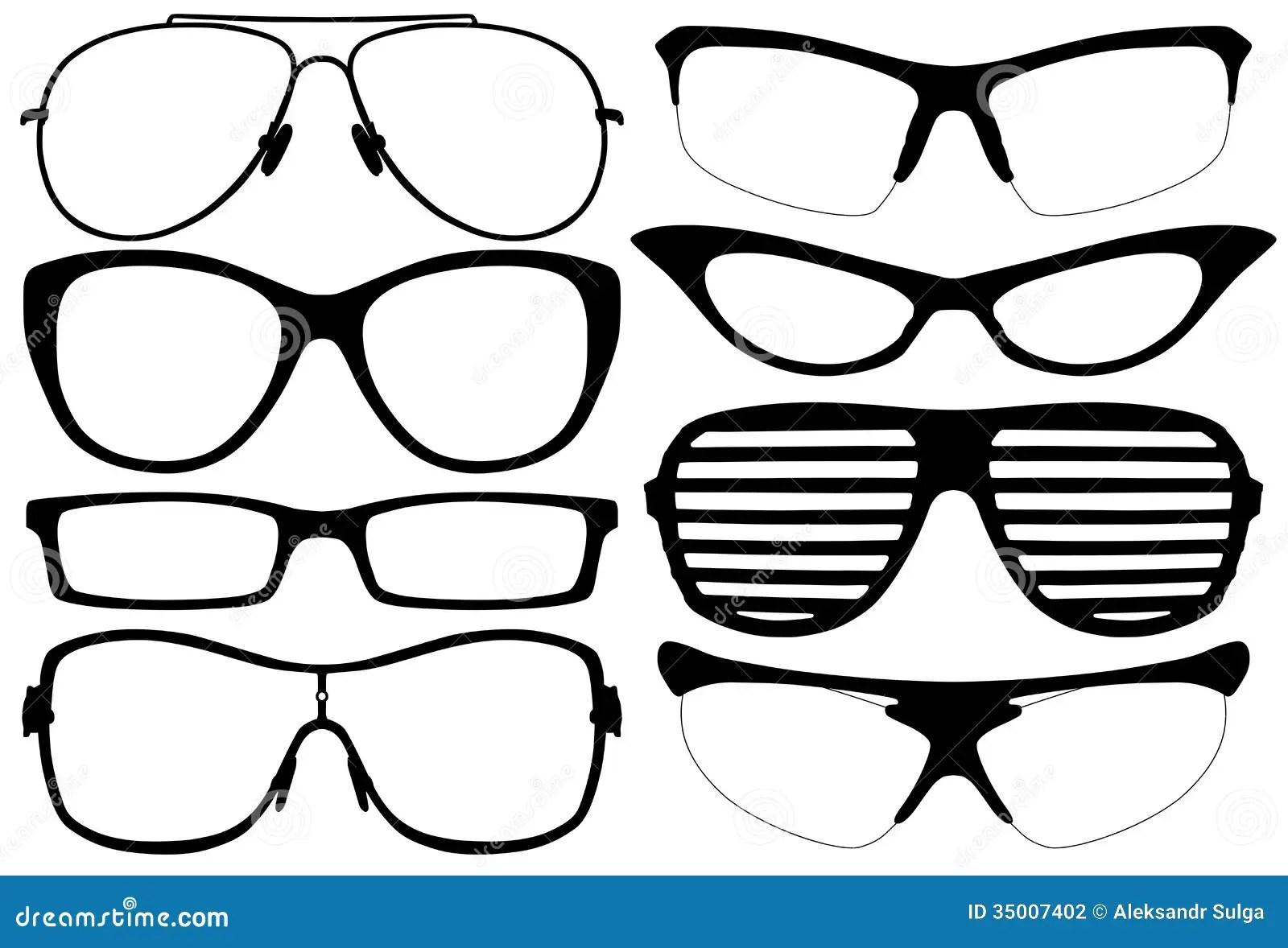 Glasses Silhouette Stock Vector Illustration Of Glasses