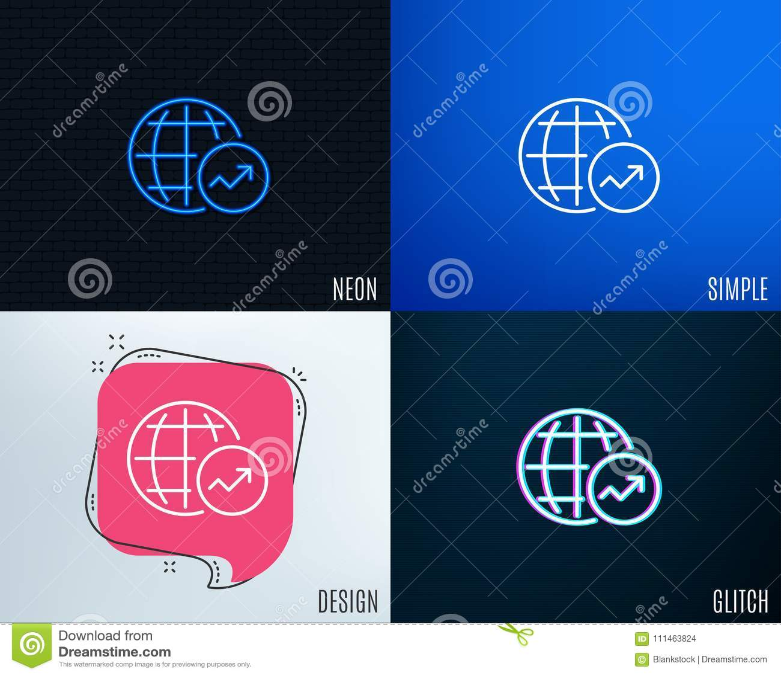 hight resolution of world statistics line icon chart sign