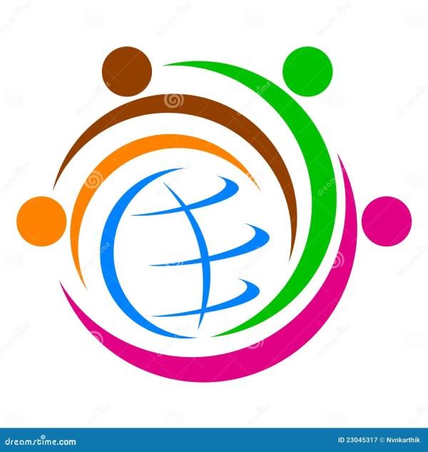 Global Diversity Logo Stock Vector. Illustration Of