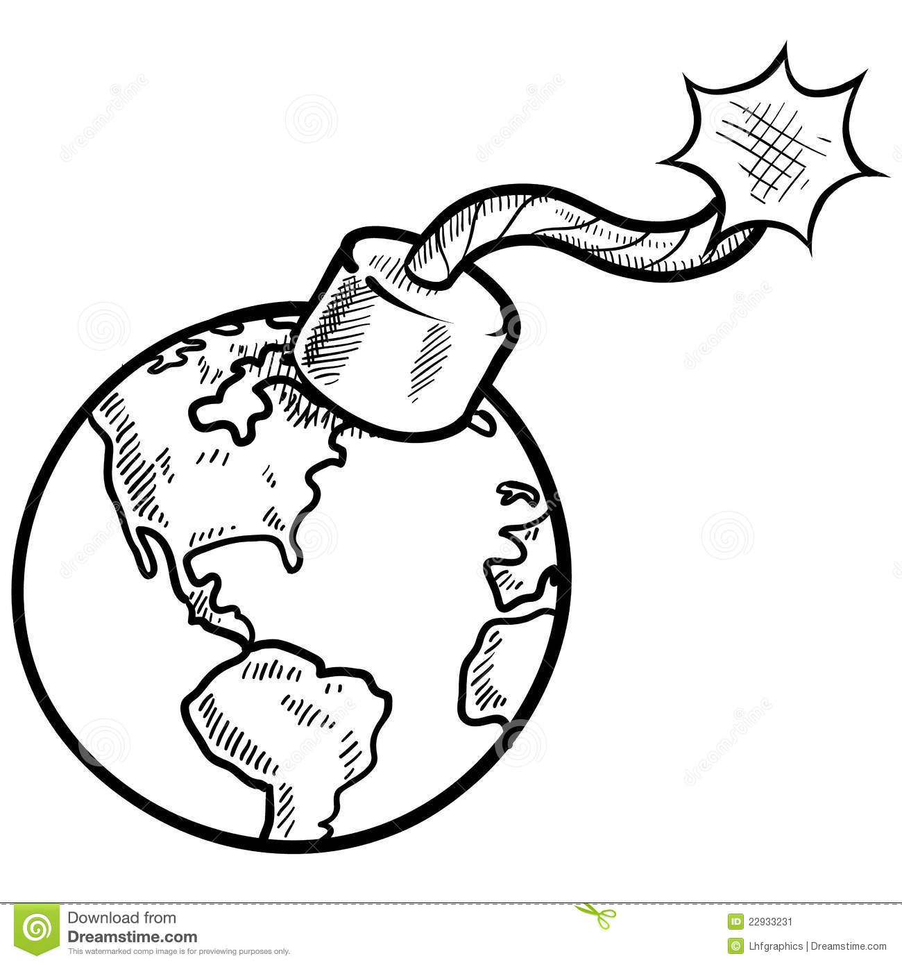 Global Time Sketch Stock Vector Image Of Anger