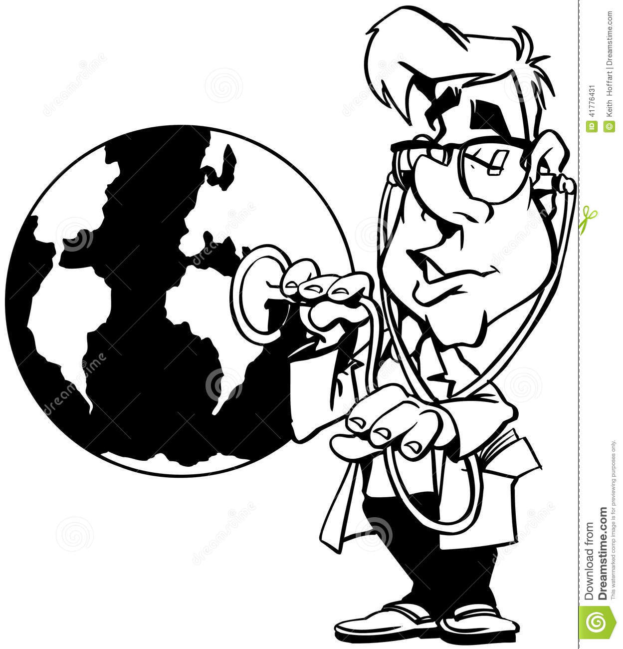 Global Warming Earth Cartoon Vector Clipart Stock