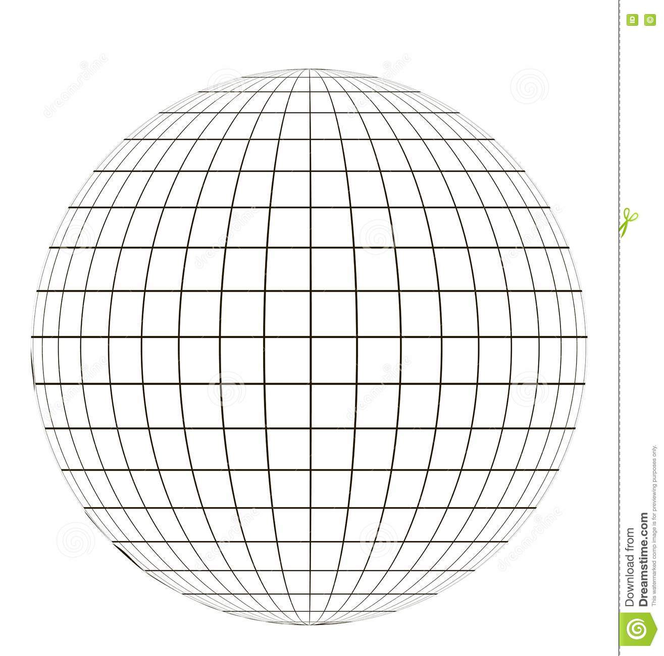 Globe With Grid Stock Vector Illustration Of Graphic