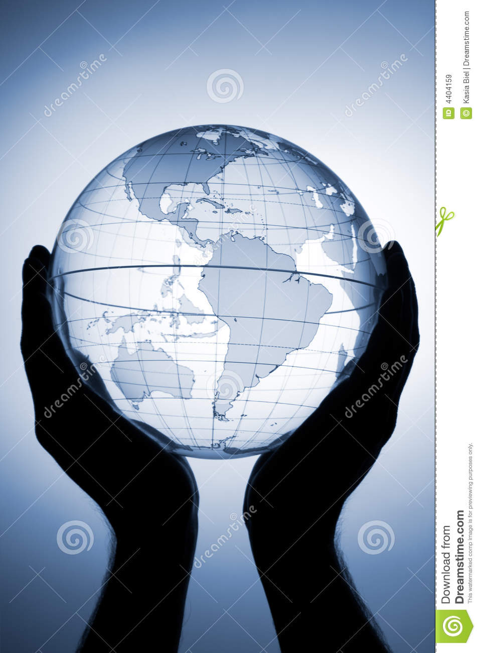 Globe In Hands Royalty Free Stock Images Image 4404159