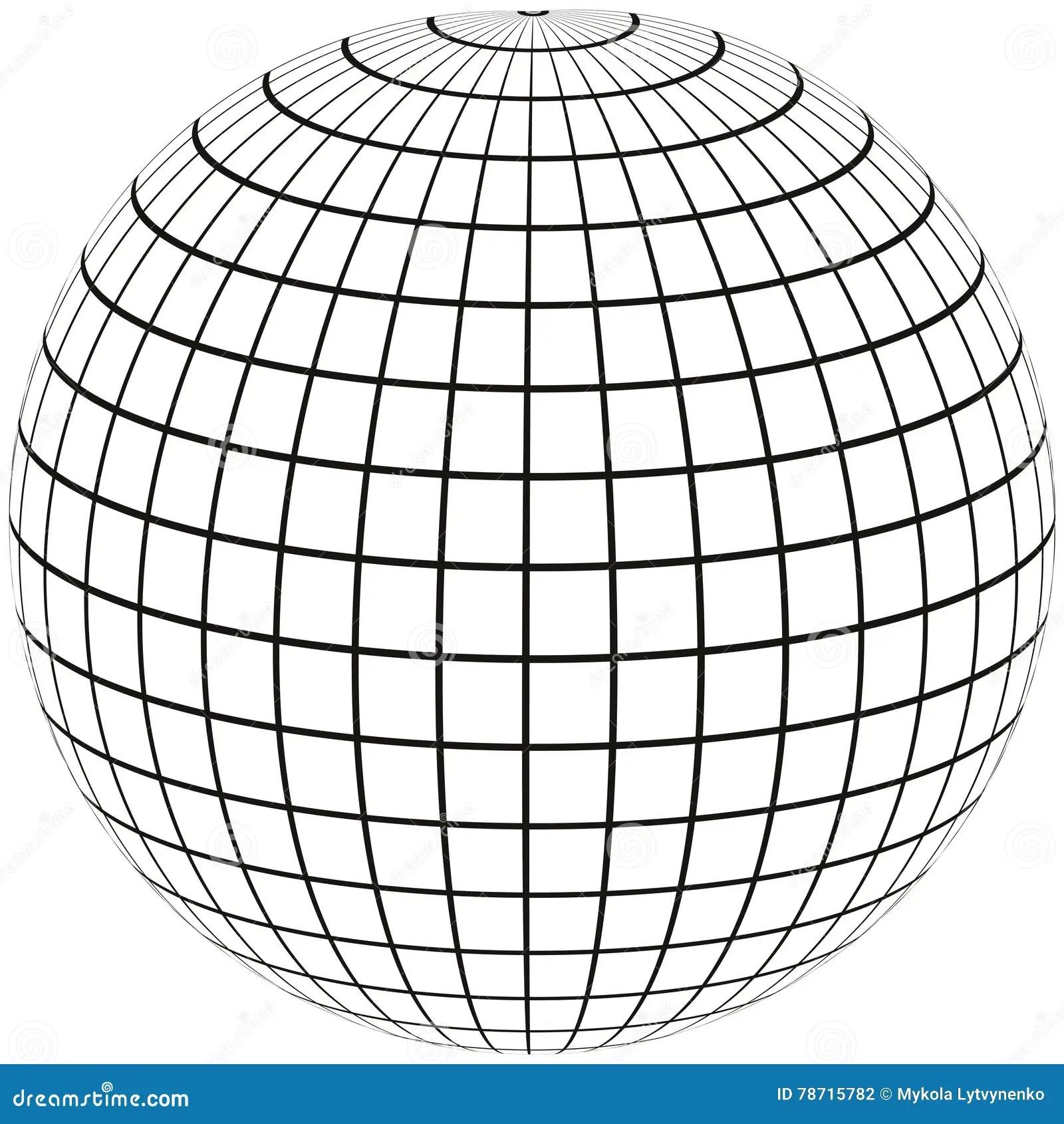 Globe Meridian And Longitude Stock Vector