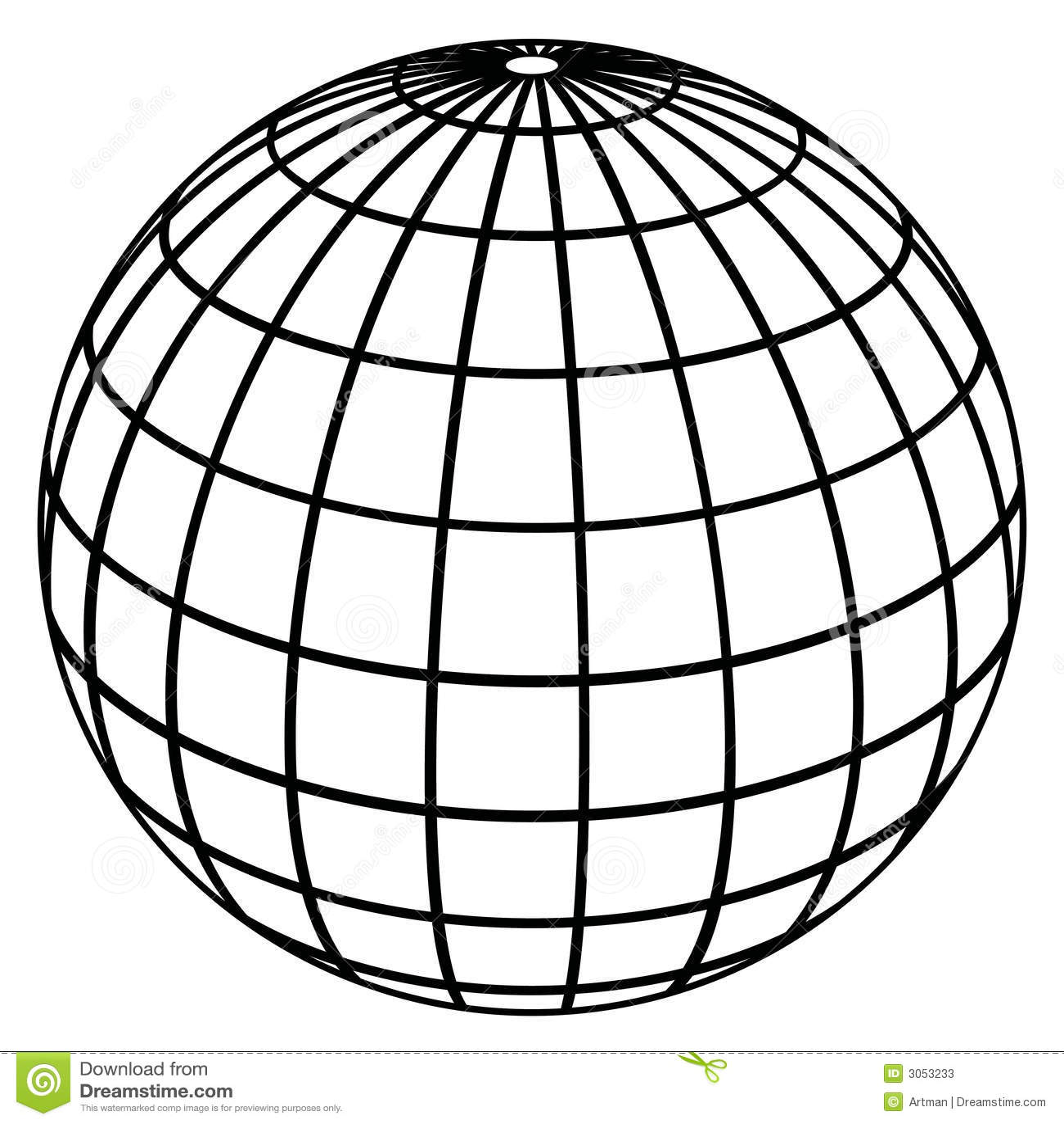 Globe Meridians Earth Model Stock Photos