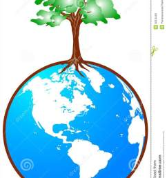 download globe with tree stock vector illustration of retro country 8018448 [ 927 x 1300 Pixel ]