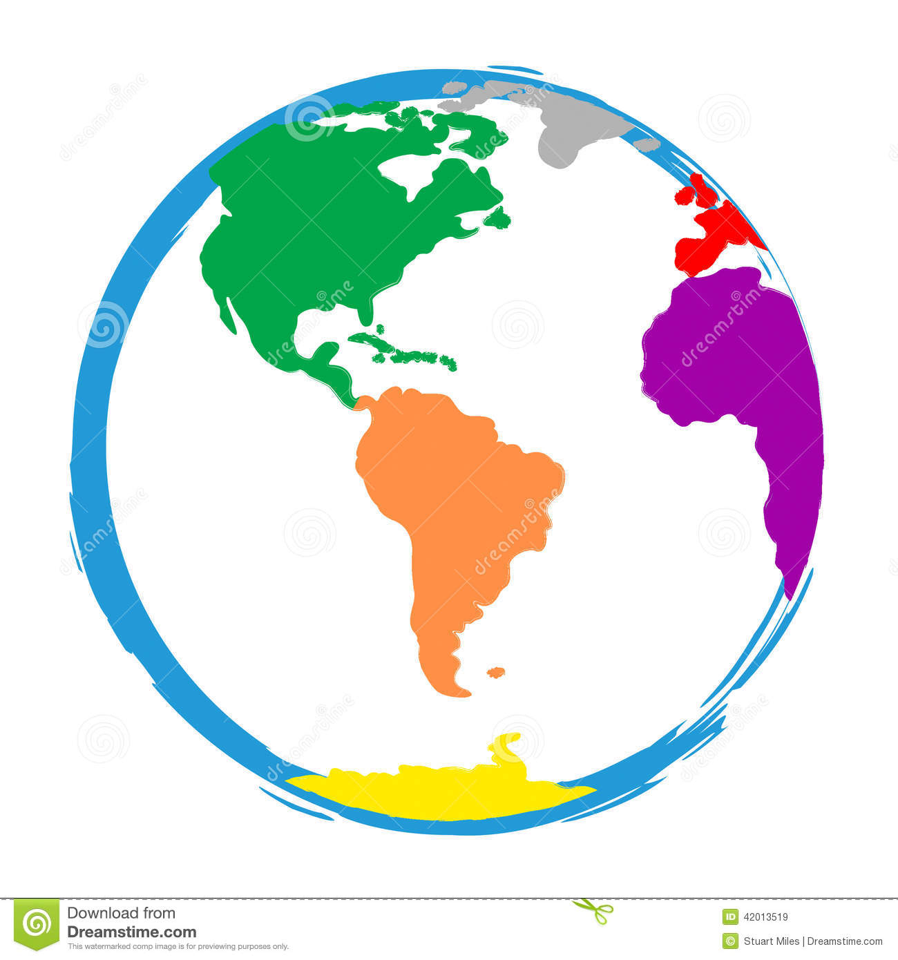 Globe World Means Globalisation Globalise And Colour Stock