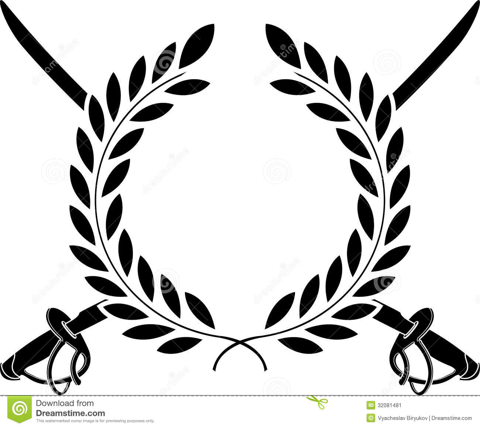 Glory Of Cavalry Stock Vector Illustration Of Laurel