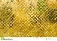 Glossy Gold Mosaic Tile Wall, Texture Background Stock ...