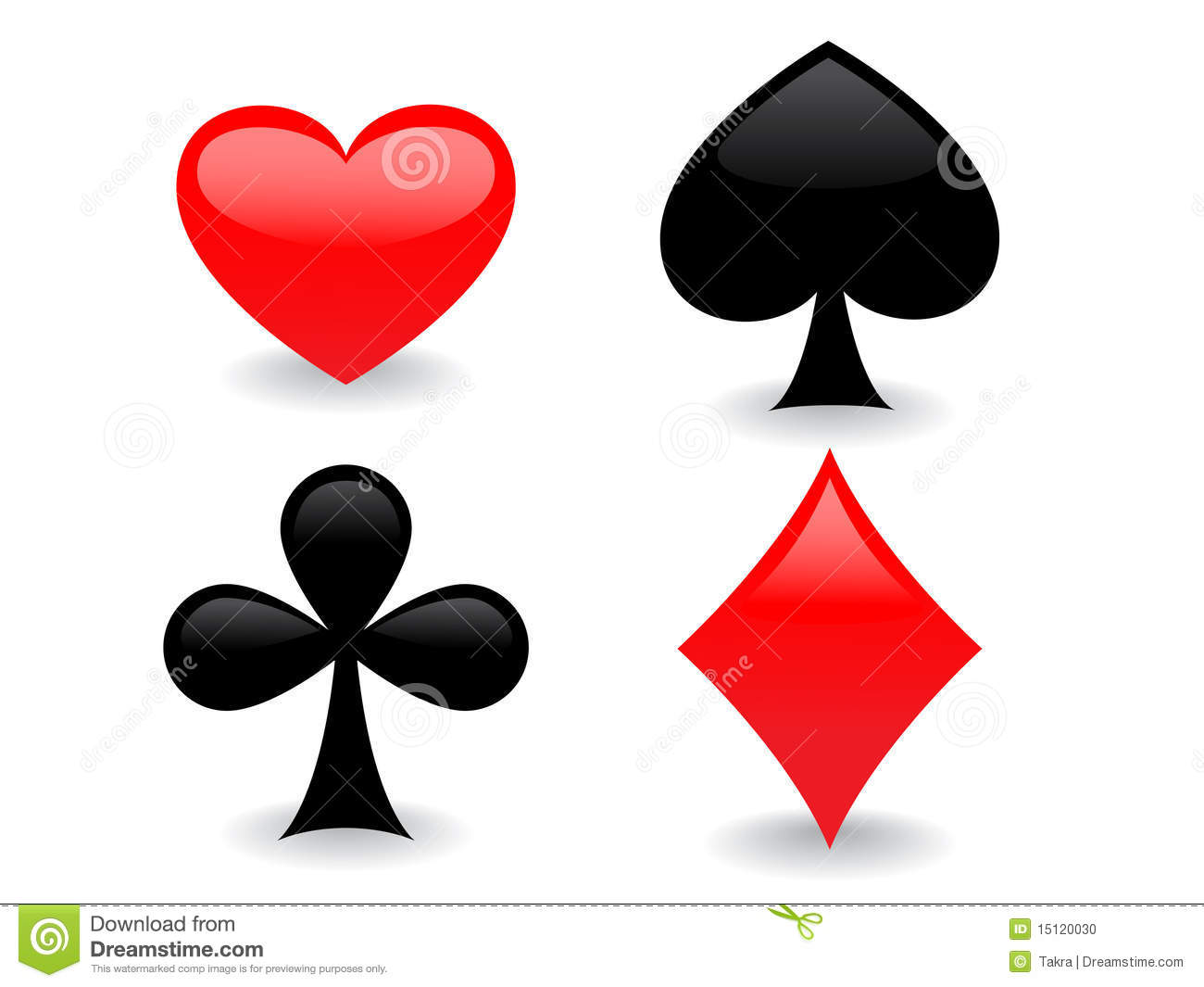 Glossy Playing Card Icons Stock Vector Image Of Clip