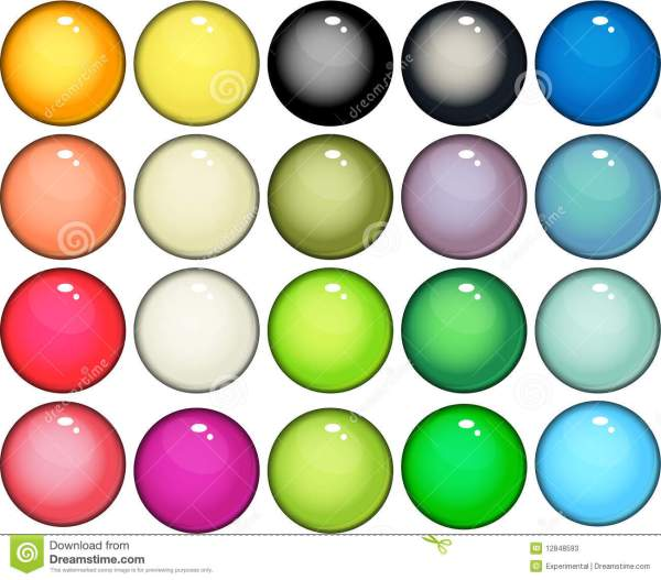 Glossy web buttons icons stock vector Image of circle