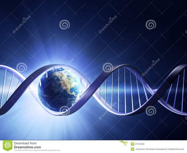 Glowing Earth Dna Strand Stock - 21519520