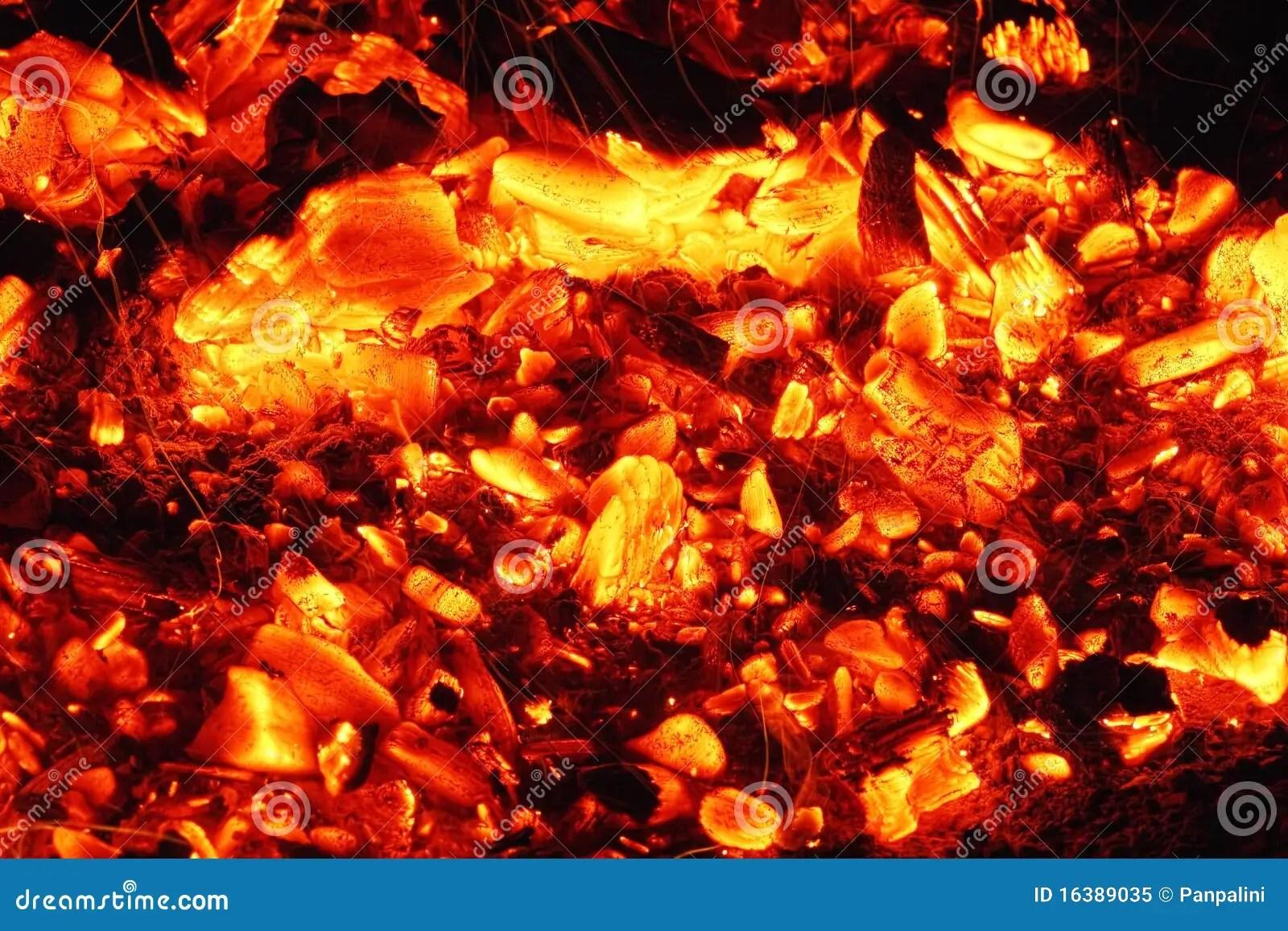 Glowing embers stock image Image of live coals horizontal  16389035
