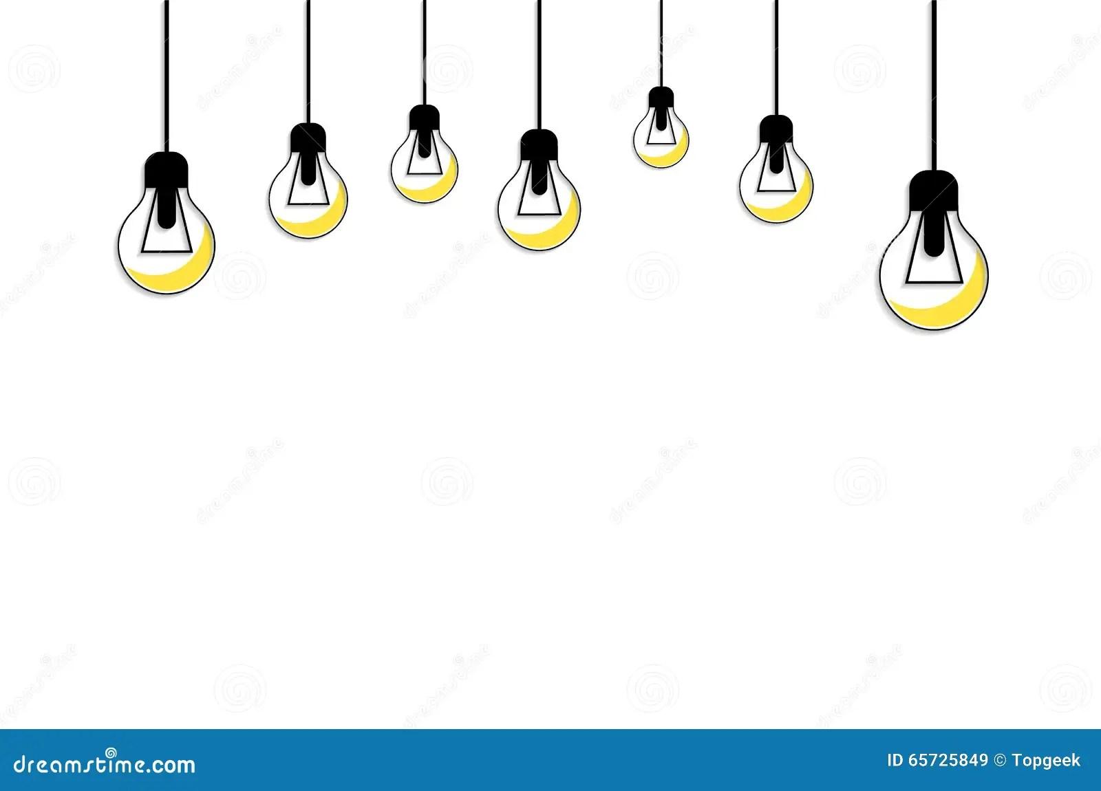 Glowing Yellow Light Bulb Idea Concept Stock Vector