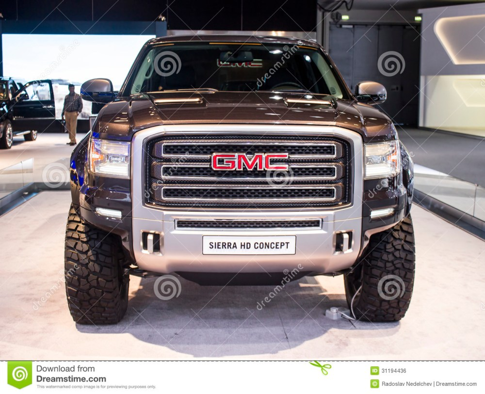 medium resolution of dubai uae november 14 2011 gmc sierra hd concept on display at the dubai motor show uae