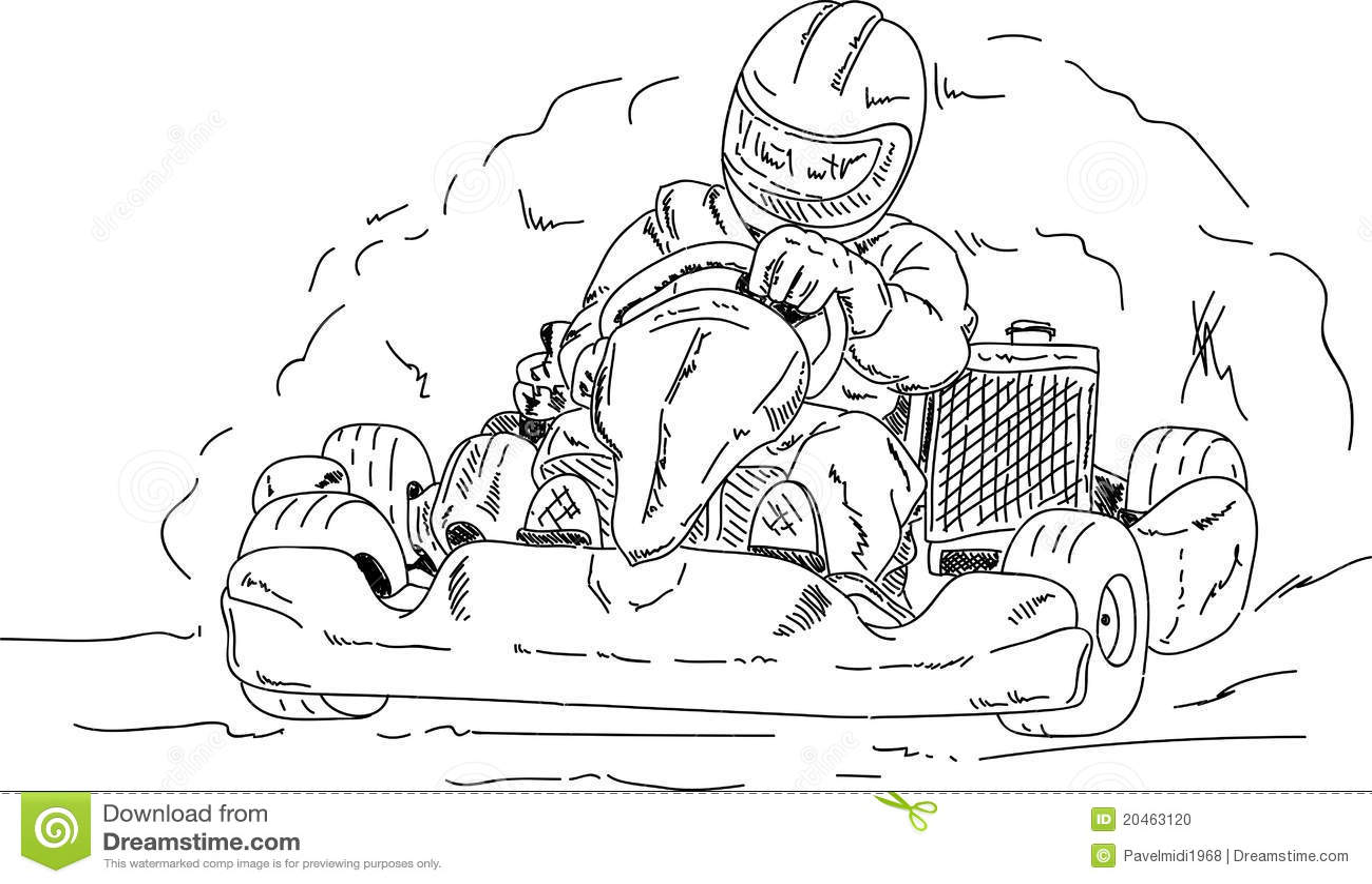 Go Kart Stock Photo