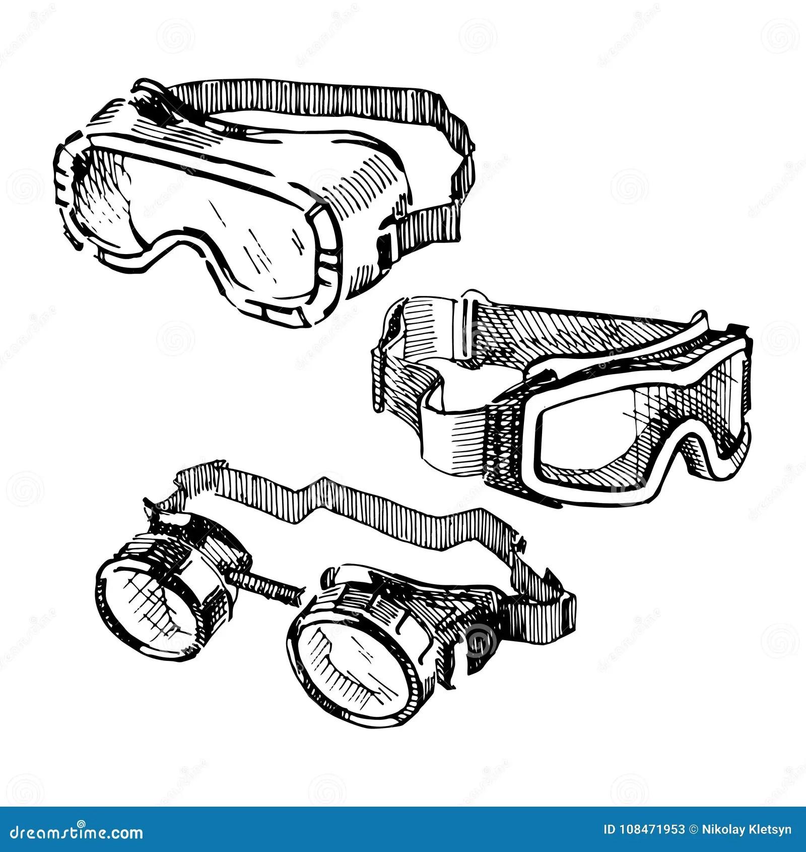 Goggles Cartoon Vector