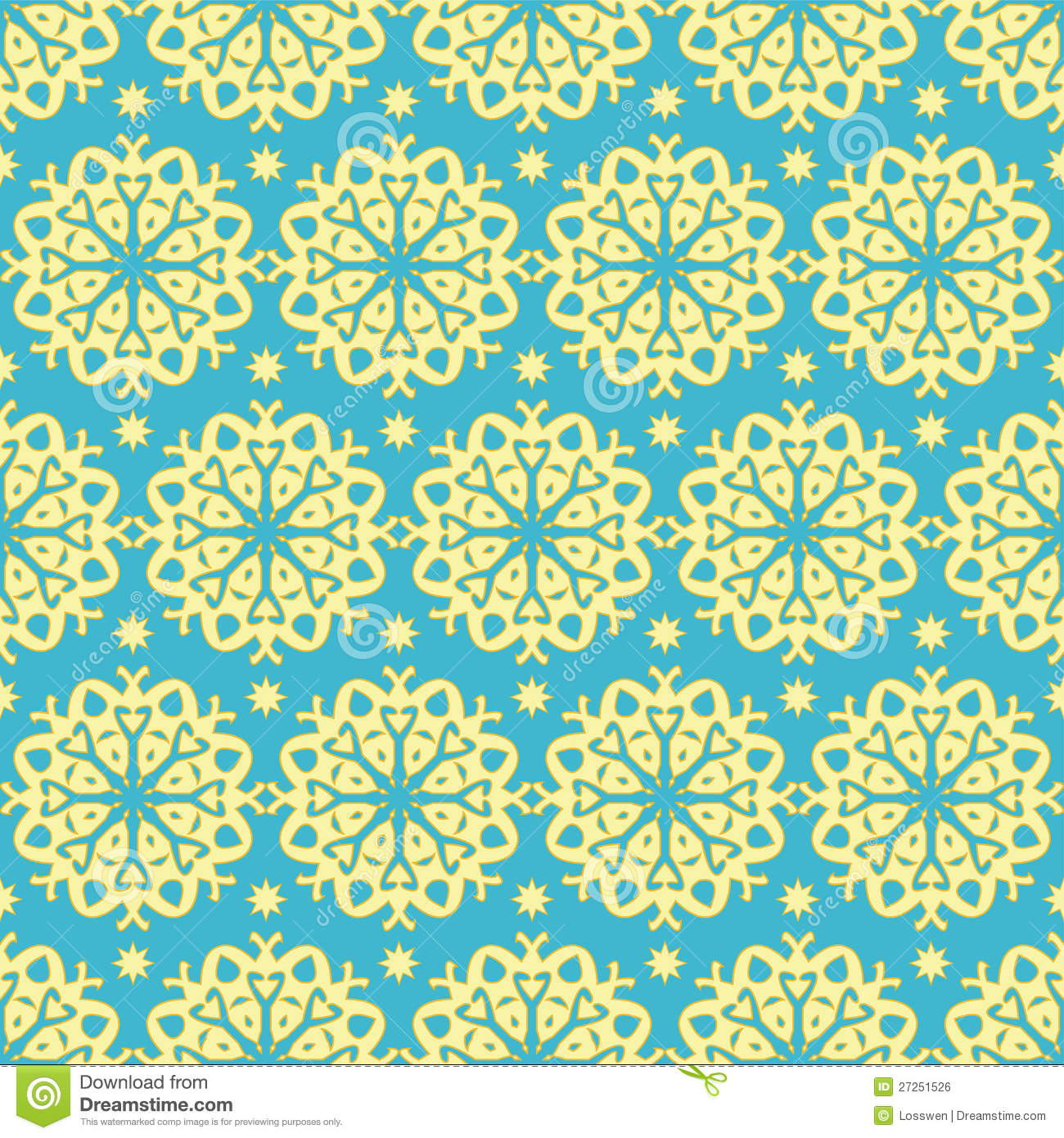 Gold And Blue Pattern Royalty Free Stock Image Image
