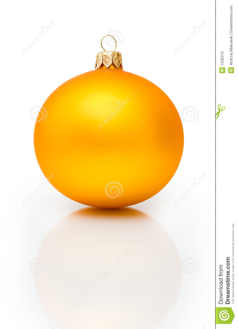 Gold Christmas Ball Stock Photography Image 1530372