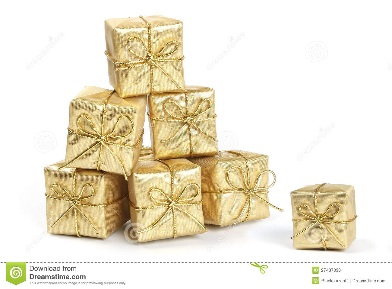 Gold Christmas Presents Stock Photos Image 27437333