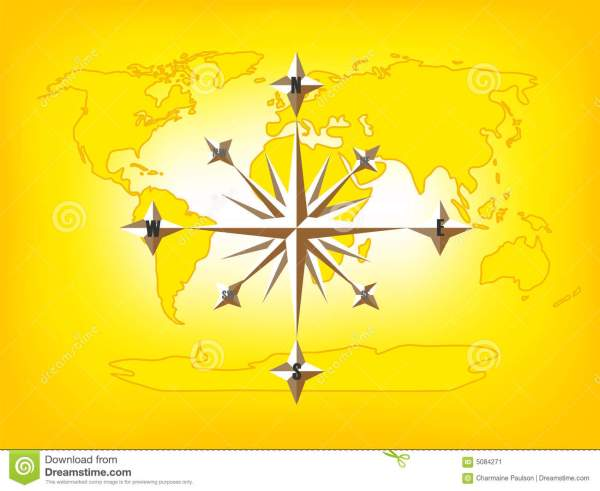 Map Of The World With Compass.Map Of The World Including A Compass Rose Imgurl