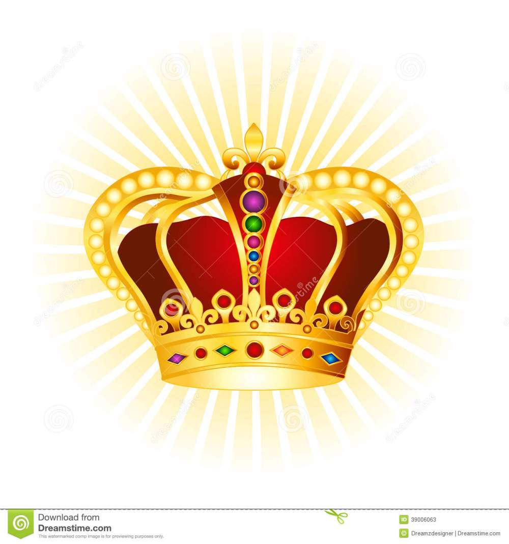 medium resolution of golden crown clipart on glowing background