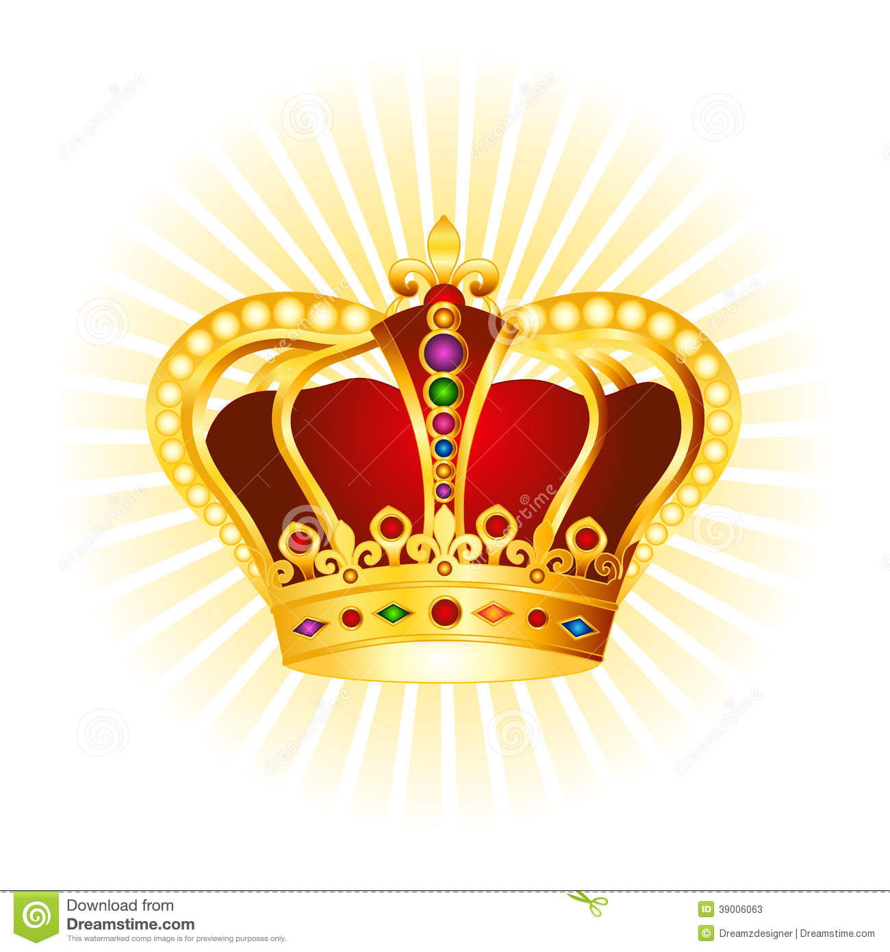 hight resolution of golden crown clipart on glowing background