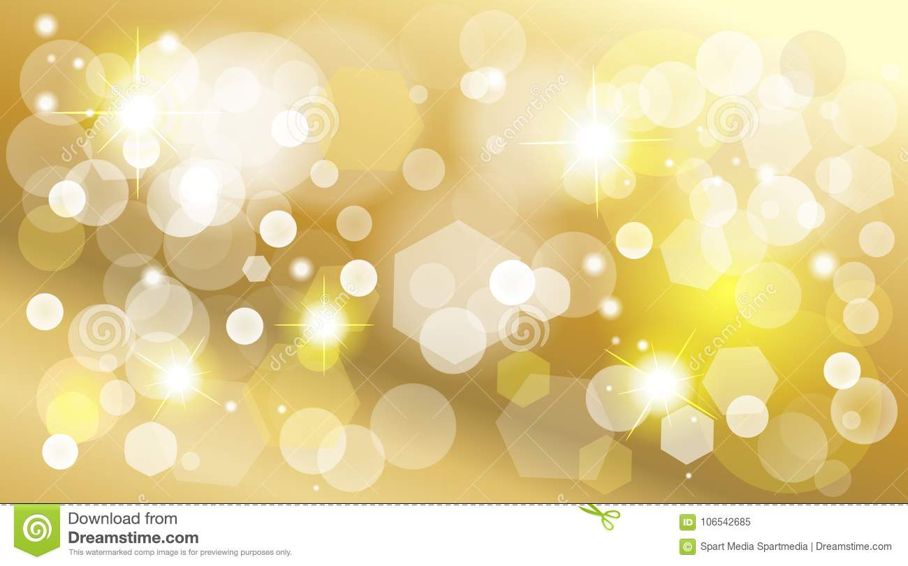 Gold Defocused Lights Effect Shine Wallpaper Stock Vector Illustration Of Ball Element 106542685