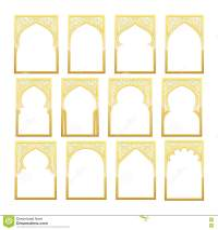 Gold Design Arab Window Ramadan Kareem. Stock Vector ...