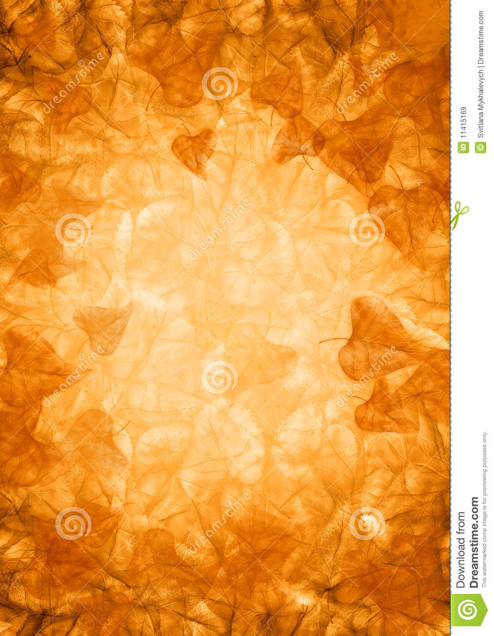 Fall Leaves Wallpaper Powerpoint Background Gold Fall Background Stock Illustration Illustration Of