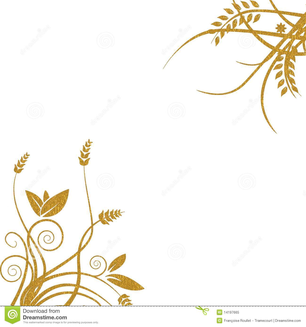 Gold Floral Background Royalty Free Stock Photo