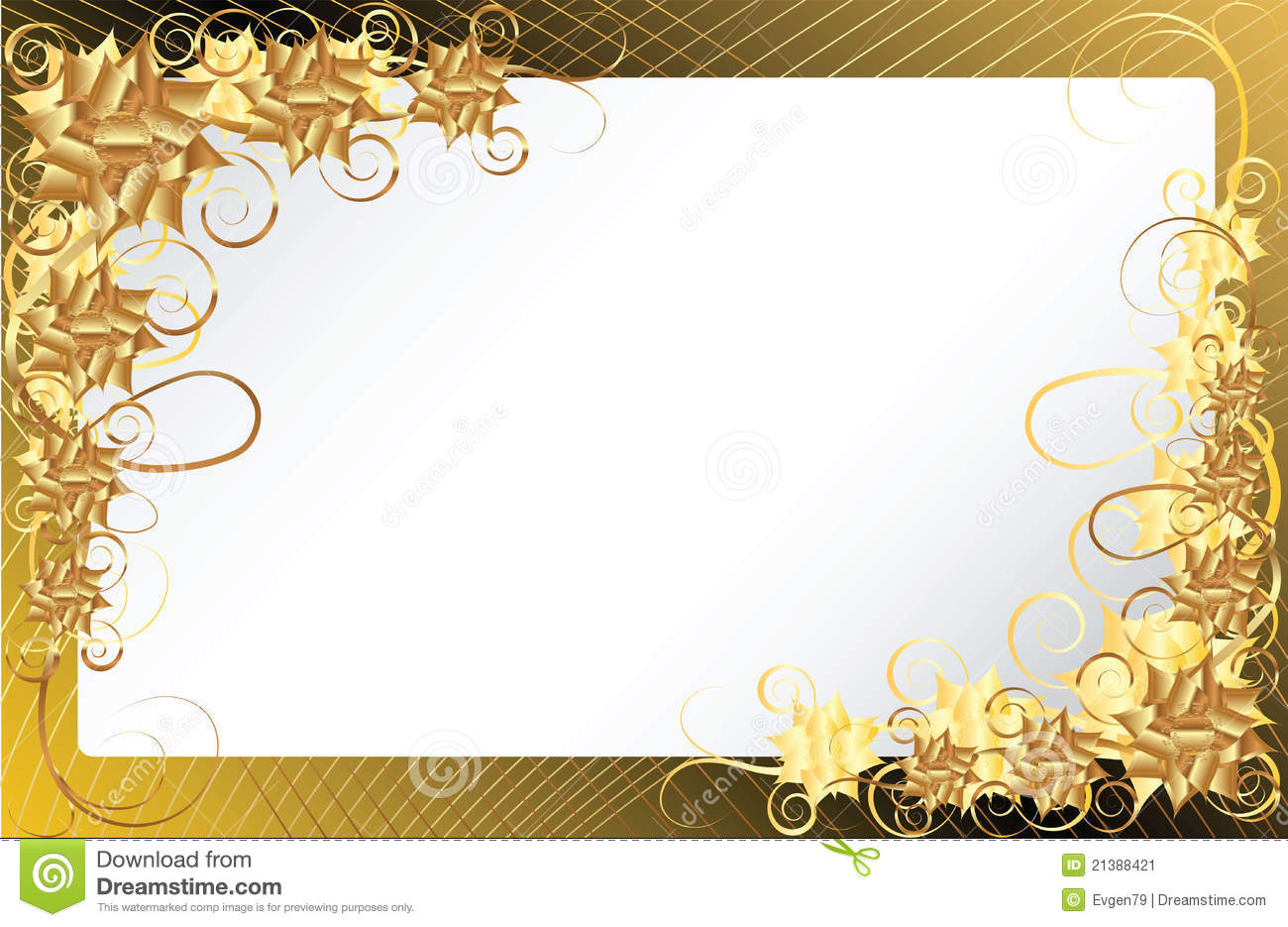 Tribal Cute Wallpaper Gold Floral Frame Background Stock Image Image 21388421