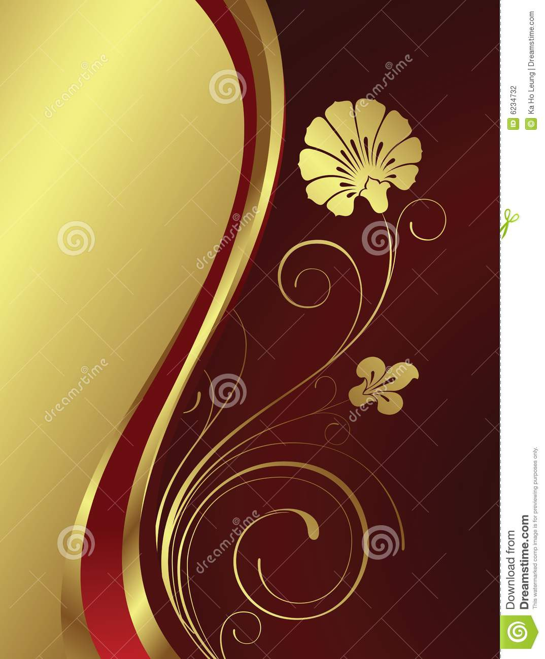 Gold Flower Stock Photography Image 6234732