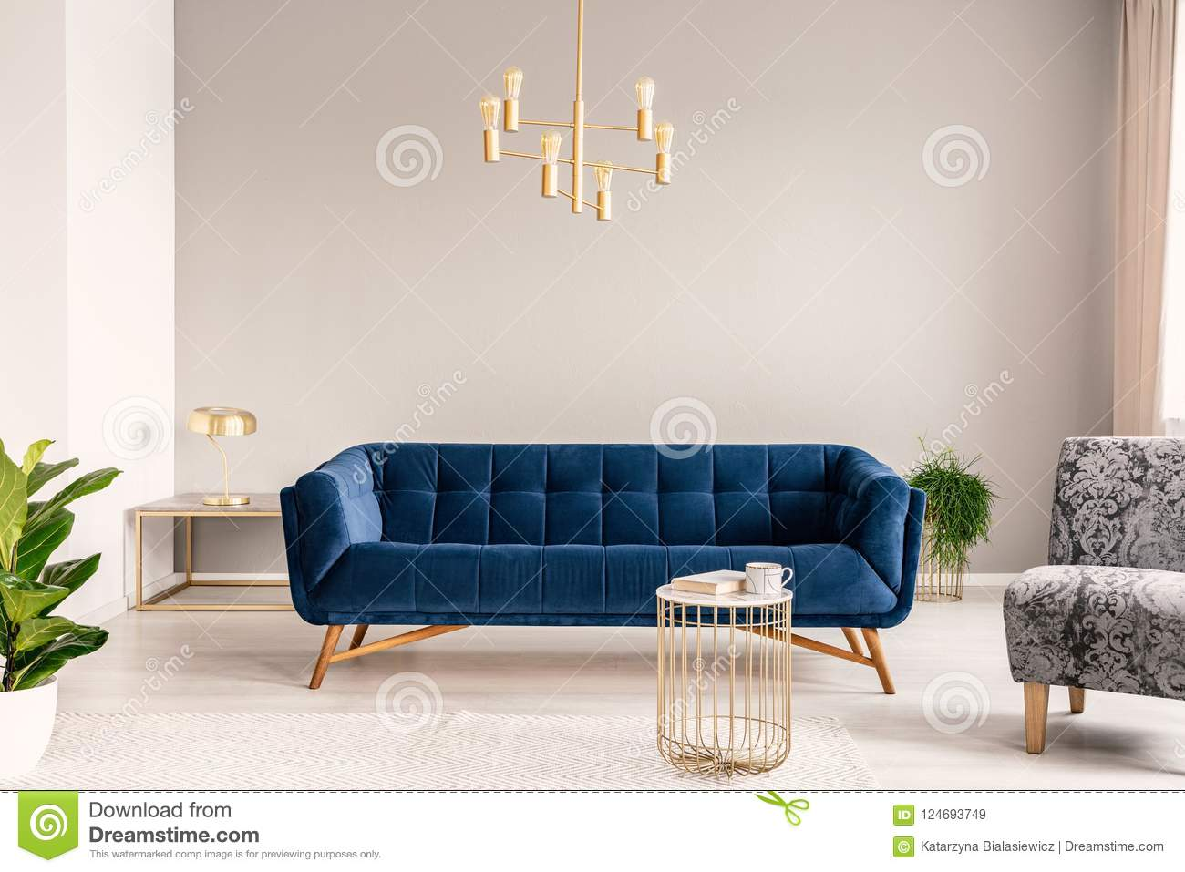 gold lamp hanging above
