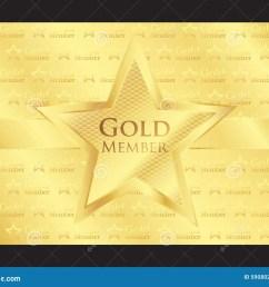 gold member club card with big star [ 1300 x 1069 Pixel ]